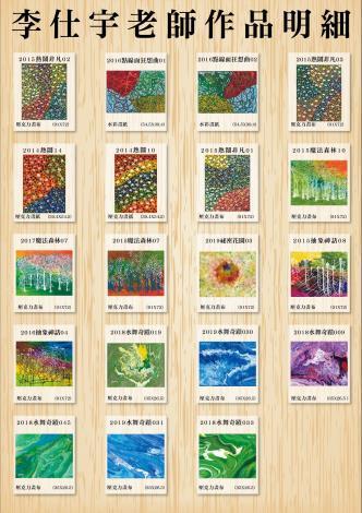 大安市民藝廊110年第3季-策展明細海報-夢之狂想曲