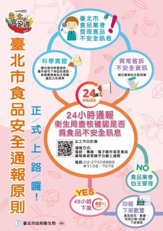 臺北市食品安全通報原則