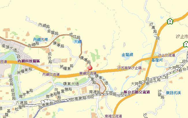 內湖地區道路平面圖