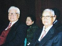 地方耆宿葉金火(圖右者)與林金子(圖左者)