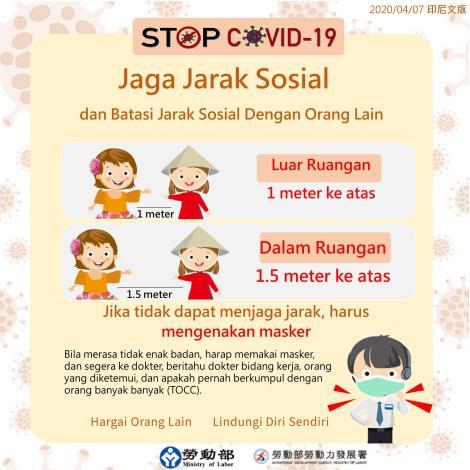 保持社交距離-Jaga Jarak Sosial -印尼文.JPG
