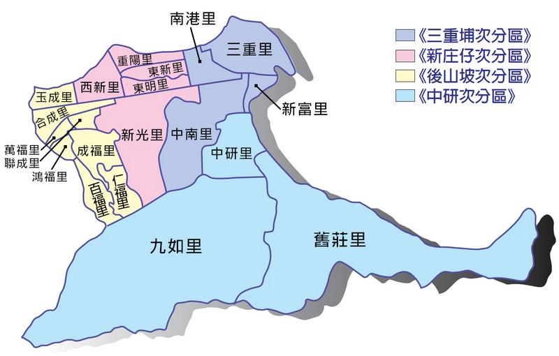 南港區區里分布圖