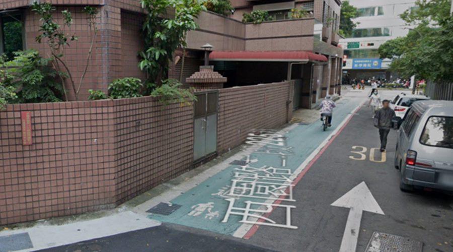 劃設標線型(綠色)人行道