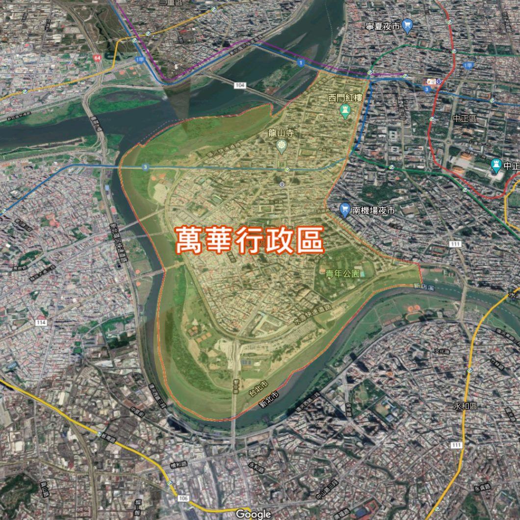 臺北市萬華區行政區域地圖