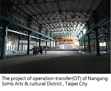 The project of operation-transfer(OT) of Nangang SoHo Arts & cultural District, Taipei City