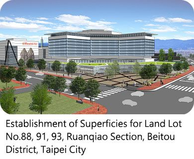 Establishment of Superficies for Land Lot No.88, 91, 93, Ruanqiao Section, Beitou District, Taipei City