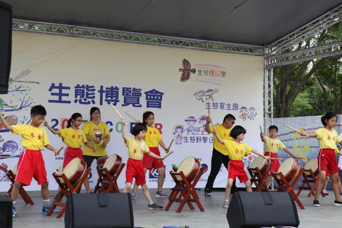 金華國小太鼓表演炒熱現場氣氛[開啟新連結]