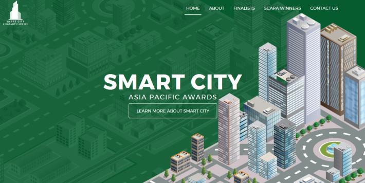 圖1:亞太區智慧城市大獎(SCAPA)投票網站頁面[開啟新連結]