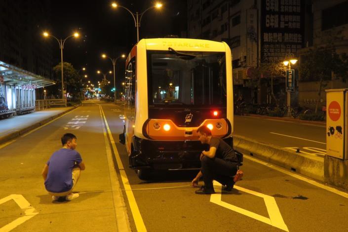 圖2:台北市自駕小巴實驗專案測試