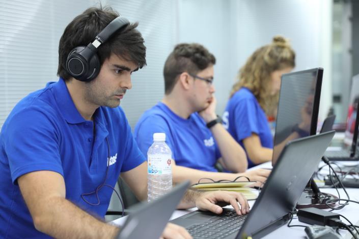 圖2:世大運競賽期間,資訊重要作業中樞-「資通訊技術運行中心」(TOC)。[開啟新連結]