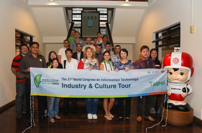 圖說:台北市政府資訊局林珠珍專委(圖右3)與參訪貴賓合影。[開啟新連結]