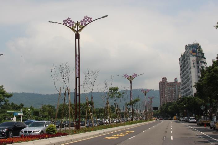 相片13-大業路櫻花路燈日間樣貌
