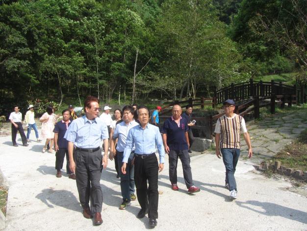 林副市長至永春陂生態徒步道訪視