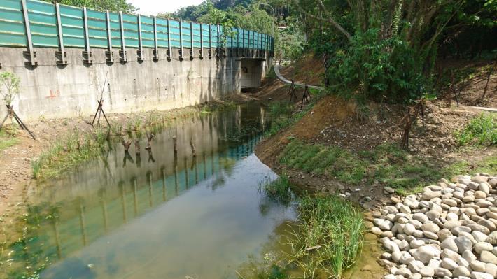 公園一景 – 另一邊生態池,除了營造林緣濕地,也能達到滯洪蓄水的效果。
