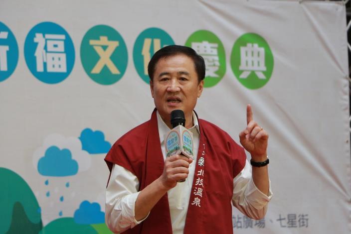 陳副市長親臨記者會致詞並祈求今年活動順利