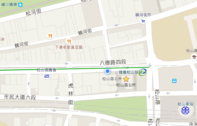 松山區公所交通位置圖