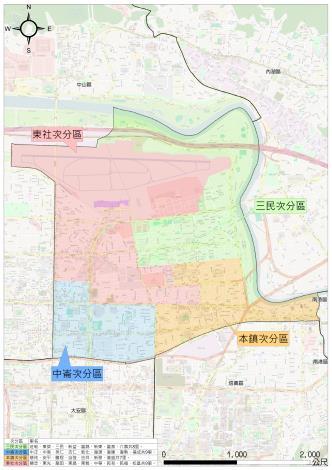 松山區次分區範圍圖