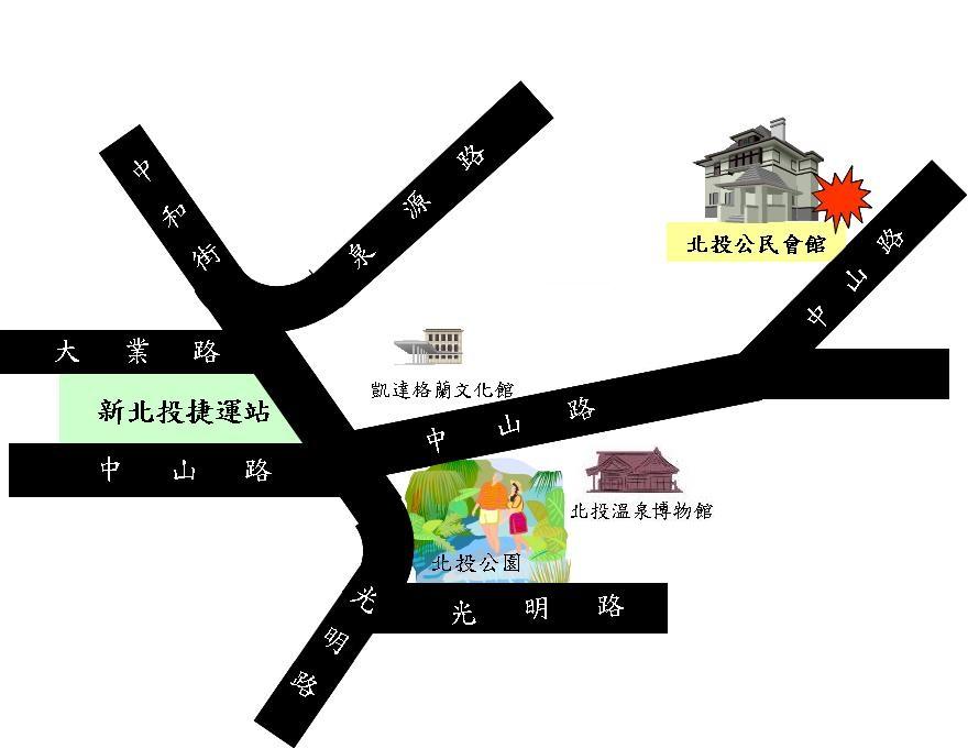 公民會館地圖