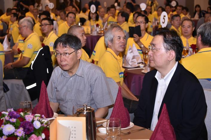 出席107年度臺北市政府環保局模範清潔員工表揚大會  柯文哲感謝環保局同仁對臺北的貢獻