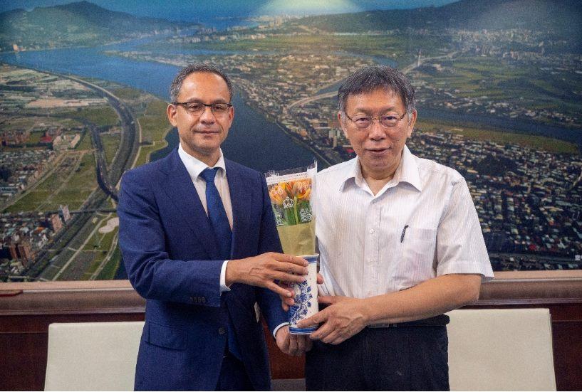 1090907_荷蘭在台辦事處新任代表譚敬南拜會柯市長