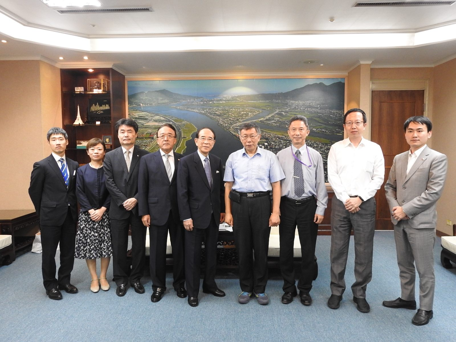 20190723_ Visiting party led by Mitsuo Ohashi, Chairman of the Japan-Taiwan Exchange Association.