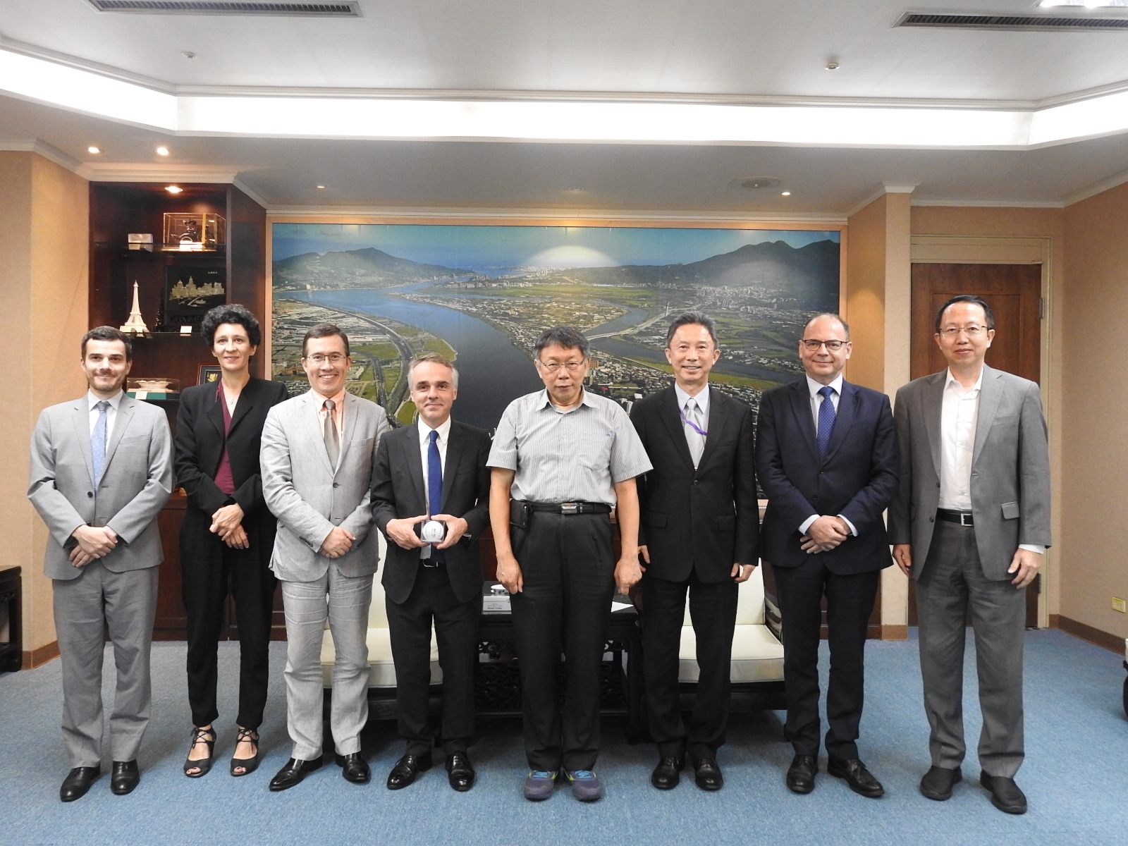 20190819_ End-of-term visit by Benoir Guidee, representative of the French Office in Taipei.