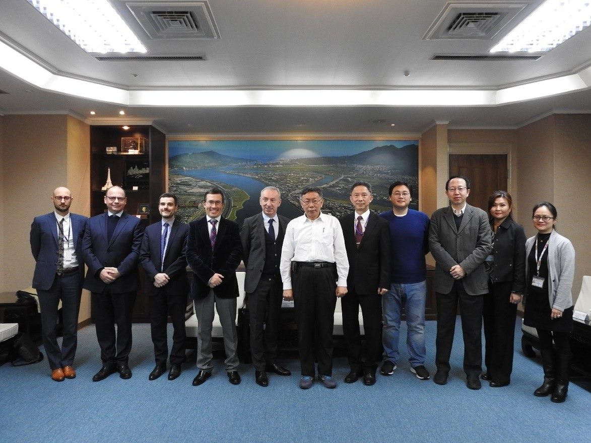 1081205_Jean-Francois Casabonne-Masonnave, representative of French Office in Taipei, visited Mayor Ko.