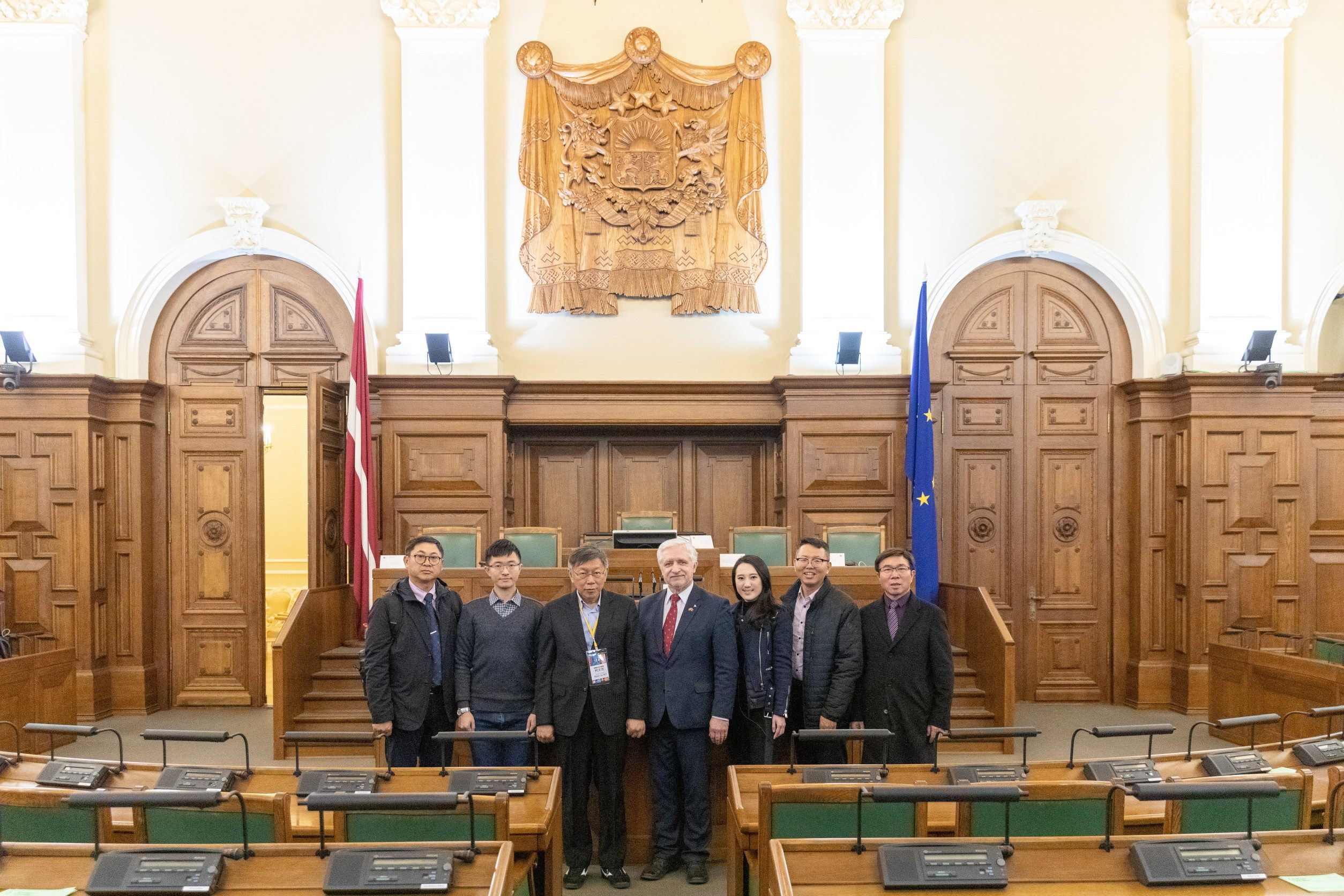 1090116_Mayor Ko and Taipei City councilors visited Mr. Jānis Vucāns, Chairman of the Taiwan–Latvia Inter-Parliamentary Friendship Group.