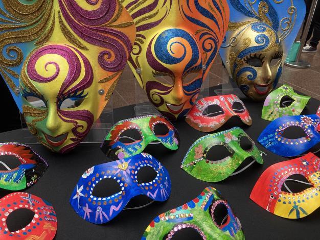 面具嘉年華記者會-手繪面具