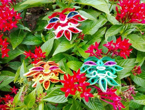蝴蝶捲紙實用飾品