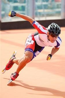 擔任衝刺棒奪下世大運滑輪項目金牌