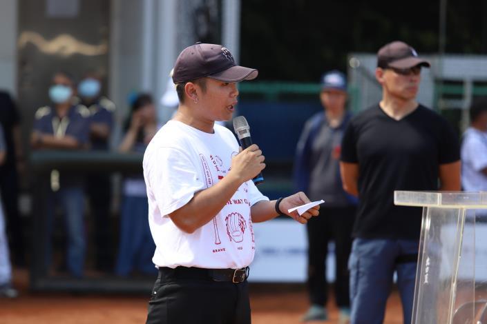 社團法人中華民國身障棒壘球協會 創始人兼主辦人 潘瑋杰 致詞