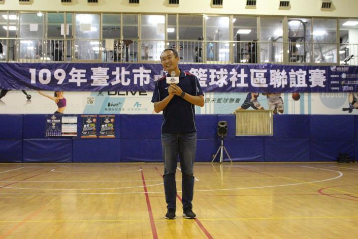 臺北市政府體育局李再立局長致詞感謝所有人員的參與