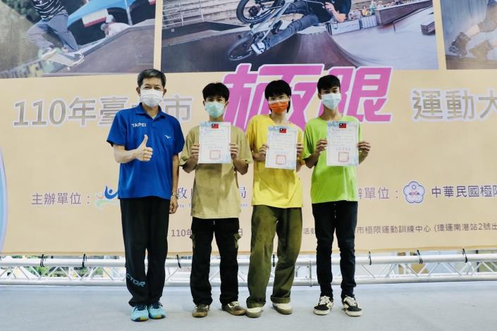 蔡培林副局長頒獎予選手