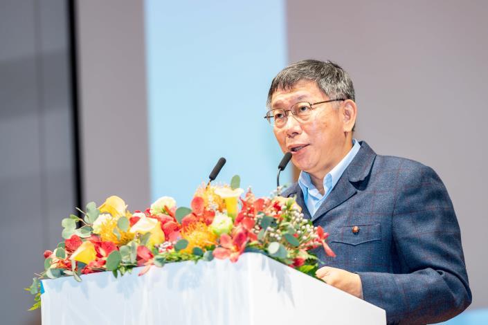 臺北市柯文哲市長致詞感謝IMGA對臺灣雙北市在申辦上的肯定