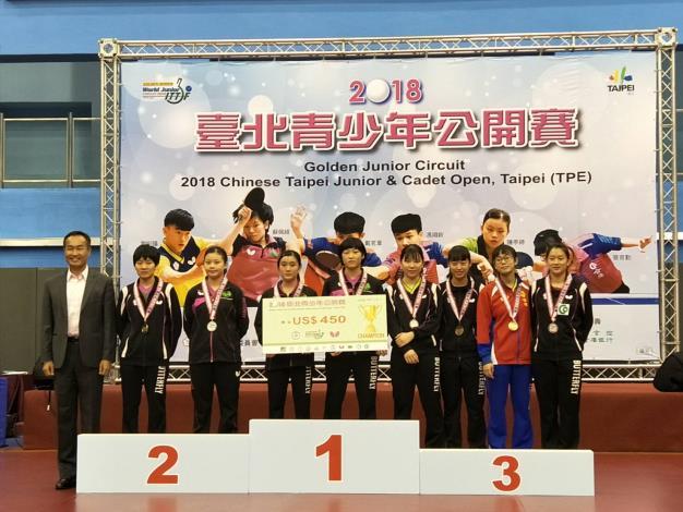 2018臺北青少年桌球公開賽