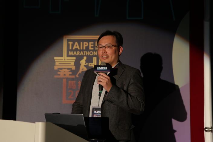 城市馬拉松的國際觀講者-中華民國田徑協會鄭世忠副秘書長
