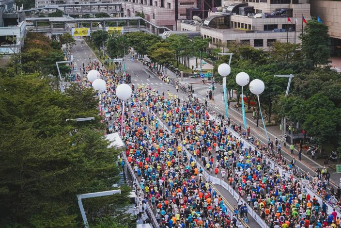 2019臺北馬拉松正式開跑