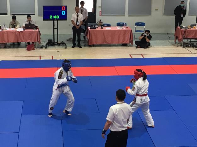 本市女子格鬥柔術代表隊競賽情形