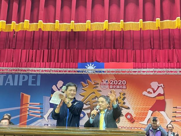 蔡培林副局長與郭枝來理事長共同宣布比賽正式開始