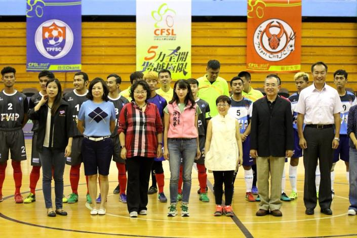 Picture of all Futsal guests and