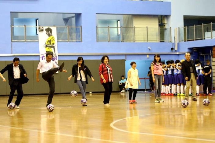 Opening of Futsal kicking goal