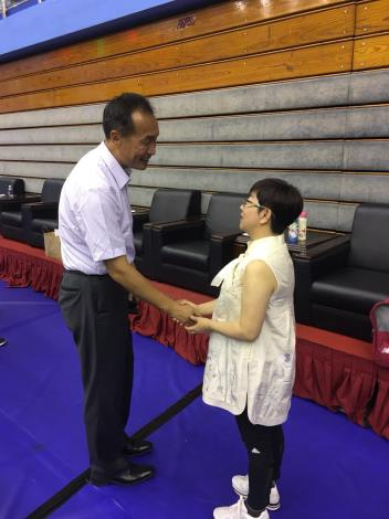 Commissioner Li of department of sports visits the President Lai of C.T.F.S.A