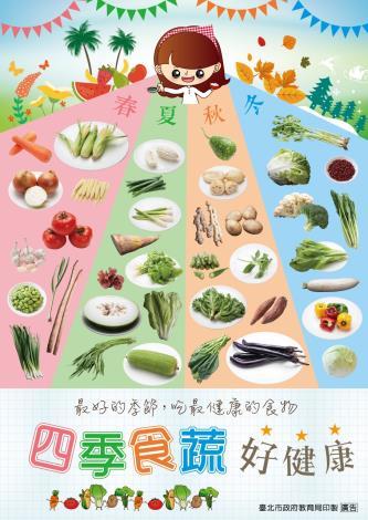 四季食蔬好健康海報