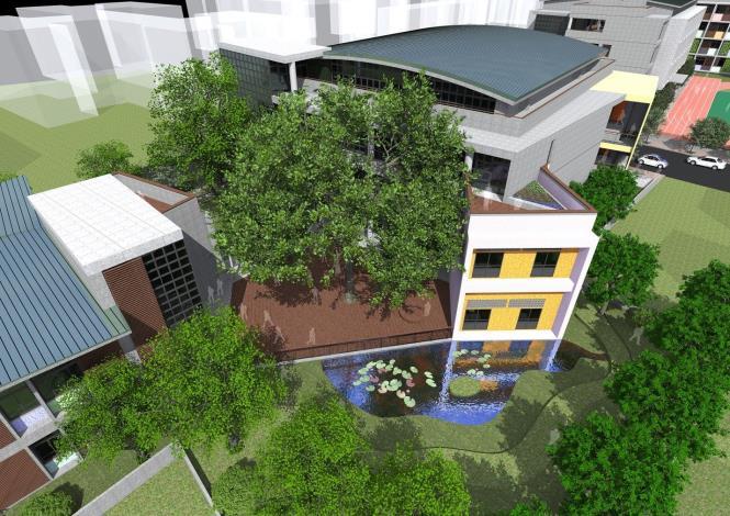 新和國小北基地既有3棵老樹保留,提供學童及民眾綠活空間。[另開新視窗]