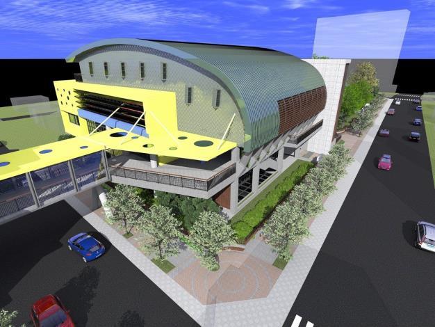 新和國小南北基地空橋連接活動中心模擬圖[另開新視窗]