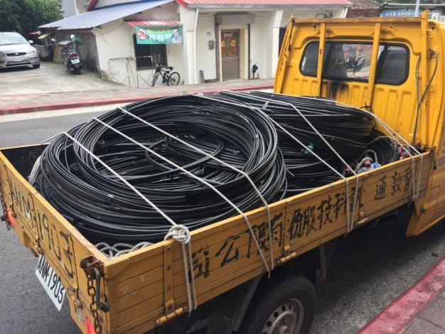 圖2 清除不明廢棄纜線