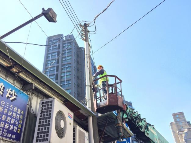 圖1 纜線清除作業情形(拍攝地點:北投區行義路)