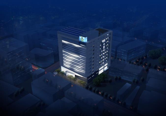 06建築東南向夜景模擬圖