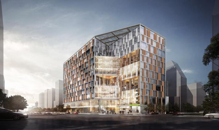 圖6 南門大樓暨市場改建統包工程完工後模擬圖片